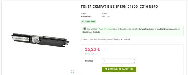 Toner Compatibile Epson C1600